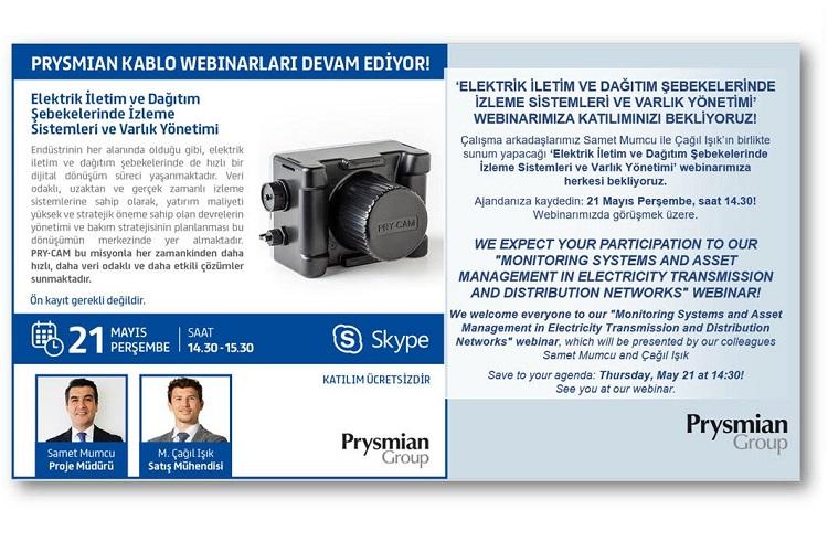Prysmian Kablo, Elektrik İletim ve Dağıtım Şebekelerinde İzleme Sistemleri ve Varlık Yönetimi, 21 Mayıs 2020 1